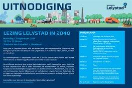 Uitnodiging Lezing Lelystad in 2040