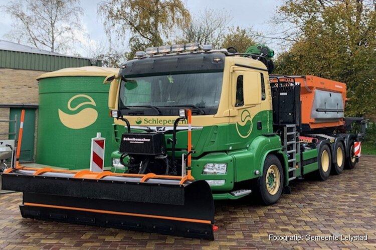Strooiwagens gemeente Lelystad klaar voor de winter
